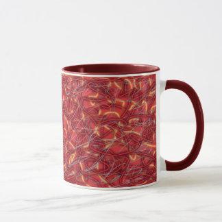 Rote Schnüre Tasse