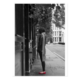 Rote Schuhe Postkarte