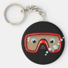 Rote Schutzbrillen Schlüsselanhänger