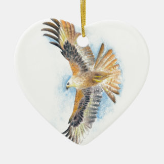 Rote Schwanz-Falke-Kunst Keramik Ornament