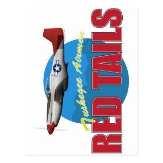 Rote Schwänze Tuskegee Flieger mit P-51 Postkarte