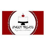Rote Schwarz-weiße Bäckerei-Geschäfts-Karten Visitenkarten Vorlagen
