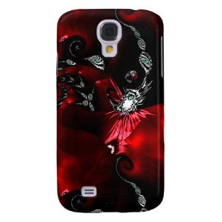 Rote schwarze abstrakte Kunst Galaxy S4 Hülle