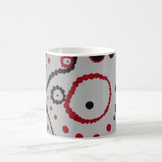 Rote schwarze Miniblase Tasse