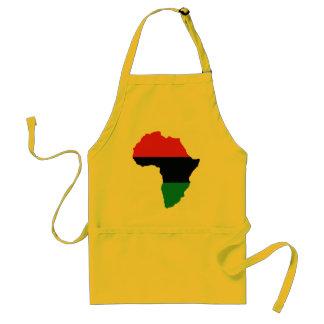 Rote, schwarze u. grüne Afrika-Flagge Schürze