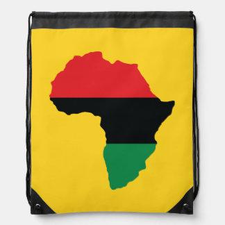 Rote, schwarze u. grüne Afrika-Flagge Sportbeutel