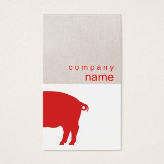 Rote Schwein-Visitenkarte Visitenkarte
