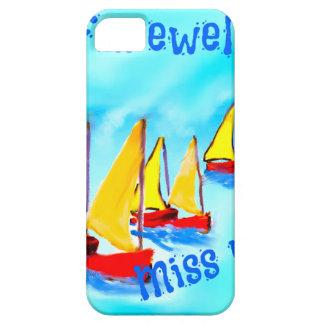 Rote Segelnboote verlassen auf einer Reise iPhone 5 Etui