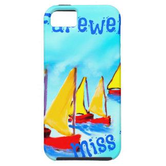 Rote Segelnboote verlassen auf einer Reise iPhone 5 Schutzhülle