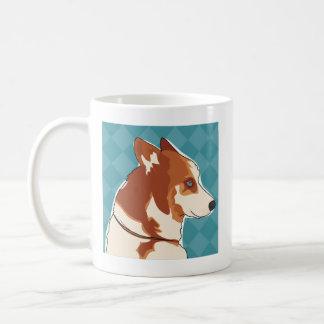 Rote sibirischer Schlittenhund-Kaffee-Tasse - Kaffeetasse