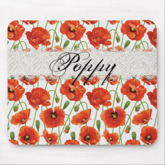 Rote Sommer-Mohnblume Mousepads
