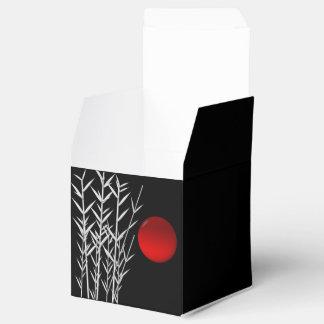 Rote Sonne Schwarz-weißer Zen Geschenkschachtel