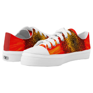 Rote Sonnenblume Niedrig-geschnittene Sneaker