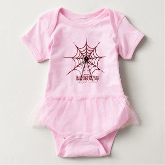 Rote Spinnen-Netz Baby Strampler