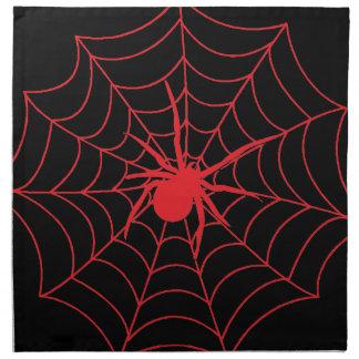 Rote Spinnen-Serviette Serviette