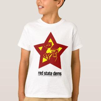 Rote Staats-DM - großer Stern (Licht) T-Shirt