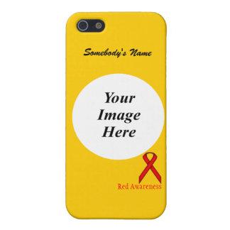 Rote Standardband-Schablone durch Kenneth Yoncich Etui Fürs iPhone 5