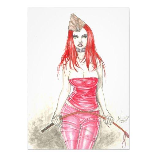 Rote steigende Einladung Phoenix