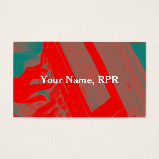 Rote Steno Visitenkarte