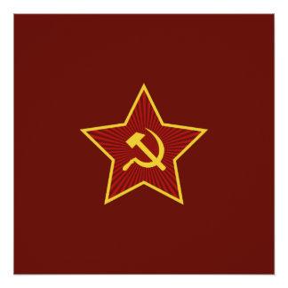 Rote Stern-Hammer und Sichel-Plakate Poster