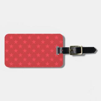 Rote Sternchen-Vereinbarung Gepäckanhänger