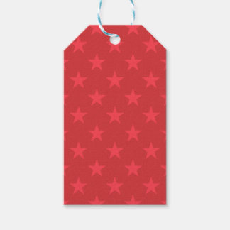 Rote Sternchen-Vereinbarung Geschenkanhänger