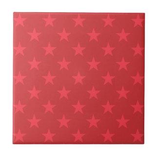 Rote Sternchen-Vereinbarung Keramikfliese