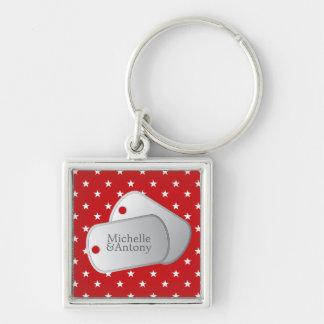 Rote Sternchen-Vereinbarung kundengerechte Foto-u. Schlüsselanhänger