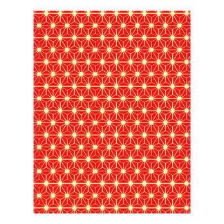 rote Sternchen-Vereinbarung mit gelber Linie Flyer