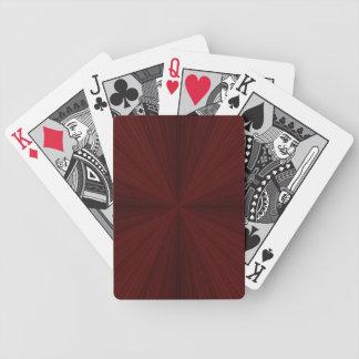 Rote Strahlen geviertelte Spielkarten