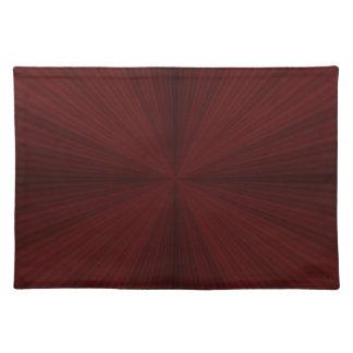 Rote Strahlen viertelten Tischsets
