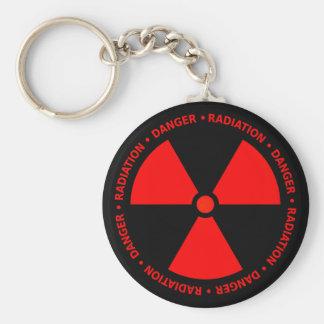 Rote Strahlungs-Warnung Schlüsselanhänger