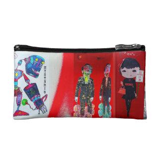 ROTE Straßen-Kunst-Kosmetik-Tasche Kosmetiktasche