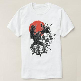 Rote Sun-Samurais T-Shirt