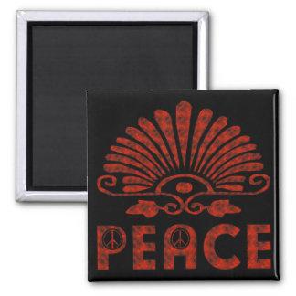 Rote Tätowierungs-Friedenskunst Quadratischer Magnet