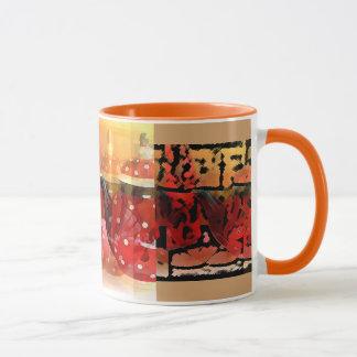 Rote Teekannen, mutig und schön! Tasse