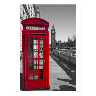 Rote Telefonzelle Big Bens Postkarte