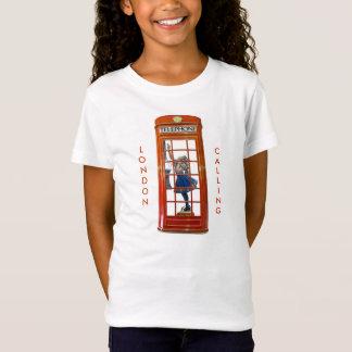 Rote Telefonzelle für Mädchen-T - Shirt