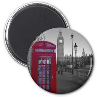 Rote Telefonzelle Londons Magnete