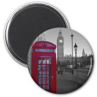 Rote Telefonzelle Londons Runder Magnet 5,7 Cm