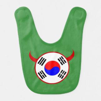 Rote Teufel-Fußball-Baby-Schellfisch Südkoreas Lätzchen
