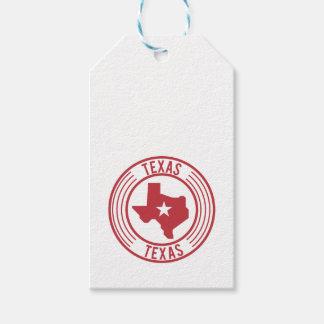Rote Texas-Karten-weißer Stern im Kreis Geschenkanhänger