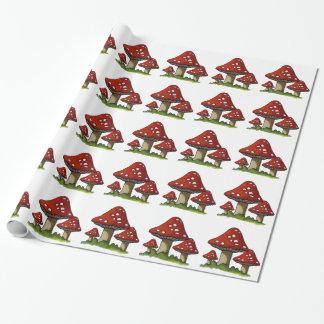 Rote Toadstools, Pilze: Ursprüngliche Kunst Geschenkpapier