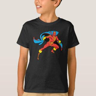 Rote Tornado-Kap-Pose T-Shirt