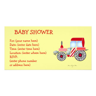 Rote Traktor-Babyparty Fotokarten