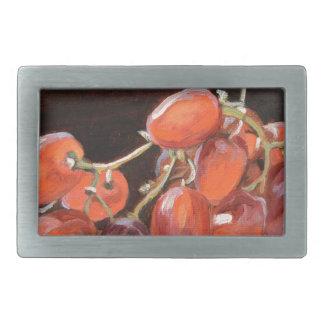 Rote Trauben Nr. 2- Rechteckige Gürtelschnalle
