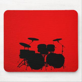 Rote Trommel-Vektor Mauspad