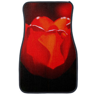 Rote Tulpe-Blume - Feuer Automatte