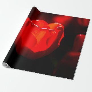 Rote Tulpe-Blume - Feuer Geschenkpapier