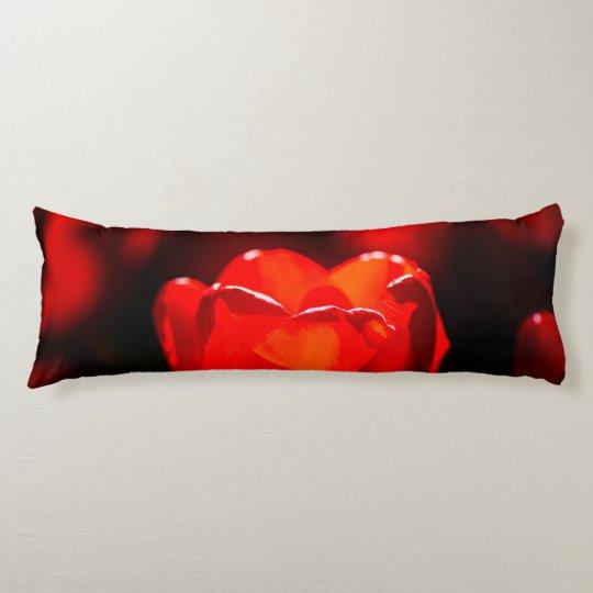 Rote Tulpe-Blume - Feuer Seitenschläferkissen
